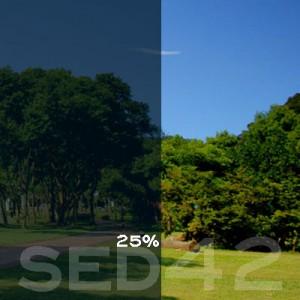 25% VLT Static Cling Window Film (Light Blue) - SED42. Static Cling Window Film