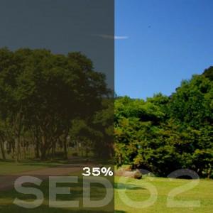 35% VLT Static Cling Window Film (Light Brown) - SED62. Static Cling Window Film