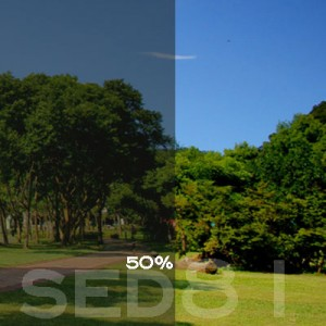 50% VLT Static Cling Window Film (Light Gray) - SED81. Static Cling Window Film