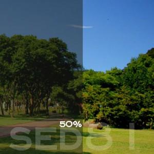 50% VLT Static Cling Window Film (Light Gray) - SED81. Static Cling Window Film