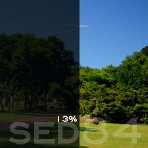 13% VLT Static Cling Window Film (Gray) - SED84. Static Cling Window Film