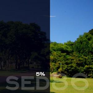 5% VLT Static Cling Window Film (Dark Gray) - SED86. Static Cling Window Film